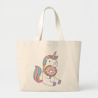 Hungry Unicorns Large Tote Bag