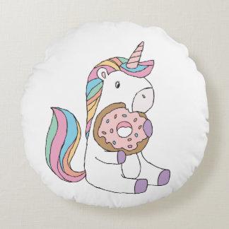 Hungry Unicorns Round Pillow