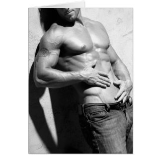 Hunk In Jeans Notecard