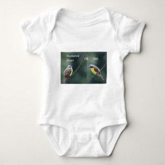 hunkered down or not bird baby bodysuit