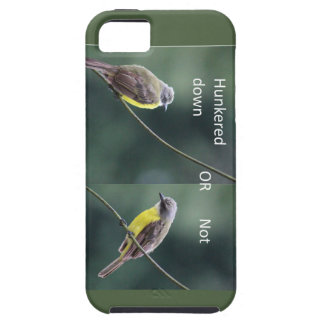 hunkered down or not bird iPhone 5 cover