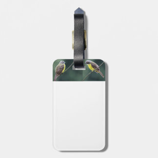 hunkered down or not bird luggage tag