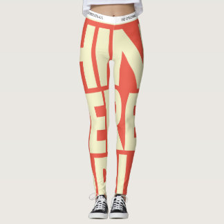 HUNKN'BULL ORIGINALS \ I THINK THERFOR I AM LEGGINGS