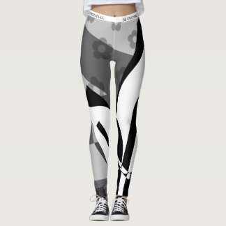 HUNKN'BULL ORIGINALS \ SUMMER BLOOM BW LEGGINGS