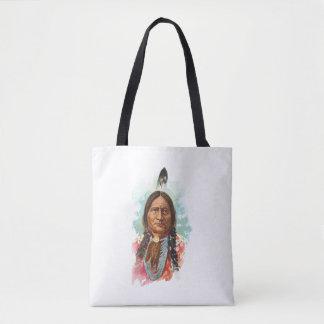 Hunkpapa Sioux Chief: Sitting Bull Tote Bag