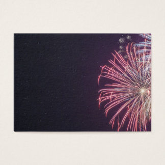 Hunstanton fireworks night 2017 in Norfolk UK Business Card