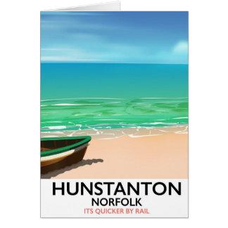 Hunstanton Norfolk Beach travel poster Card