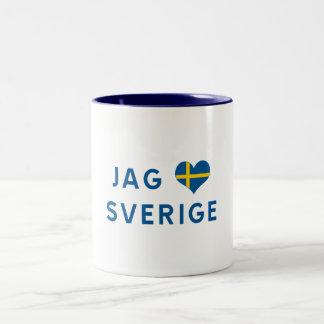 Hunt älskar for Sverige - I love Sweden Two-Tone Coffee Mug