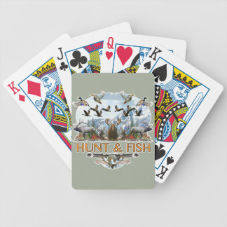 Hunt and fish bicycle playing cards