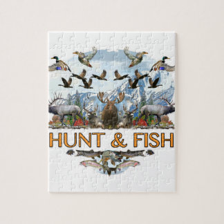 Hunt and fish jigsaw puzzle