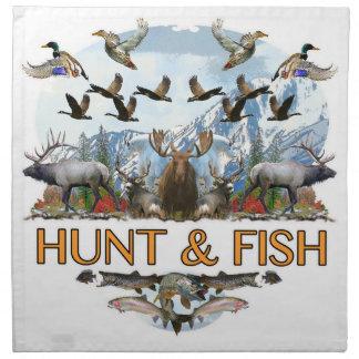 Hunt and fish napkin