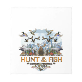 Hunt and fish notepad
