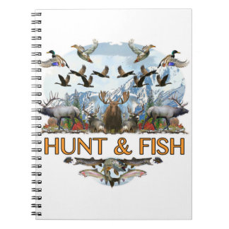 Hunt and fish spiral note book