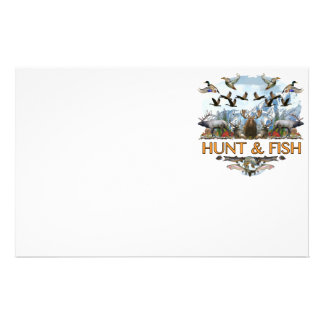 Hunt and fish stationery