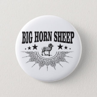 hunt big horned sheep 2 inch round button