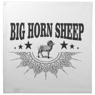 hunt big horned sheep napkin