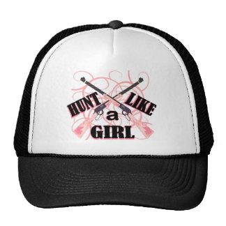 Hunt Like a Girl Pink Camo Rifle Hunting Hat