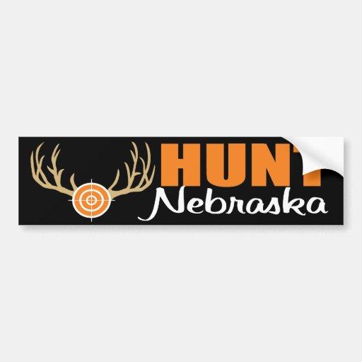 Hunt Nebraska Bumper Sticker