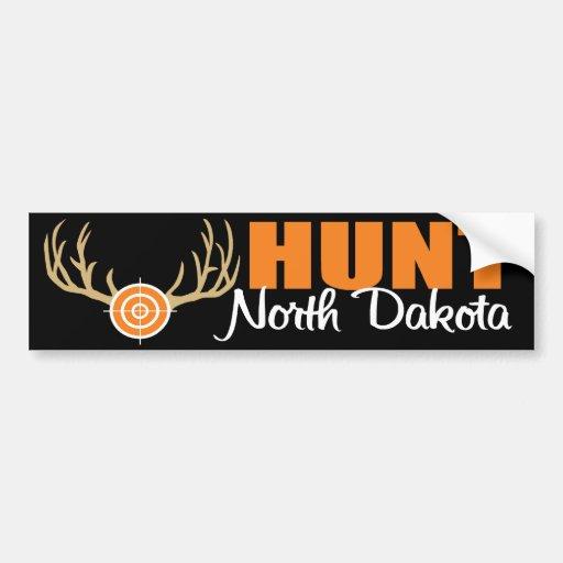 Hunt North Dakota Bumper Stickers