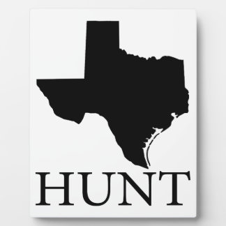 Hunt Texas Plaque