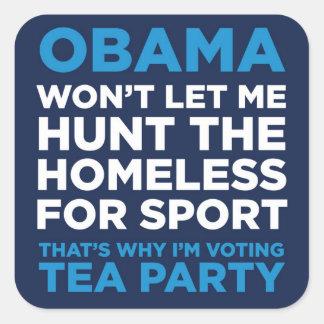 Hunt the Homeless Square Sticker