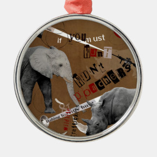 Hunt Wildlife Poachers Silver-Colored Round Ornament