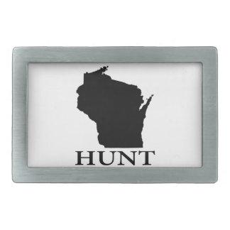 Hunt Wisconsin Belt Buckle