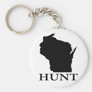 Hunt Wisconsin Keychain