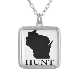 Hunt Wisconsin Silver Plated Necklace