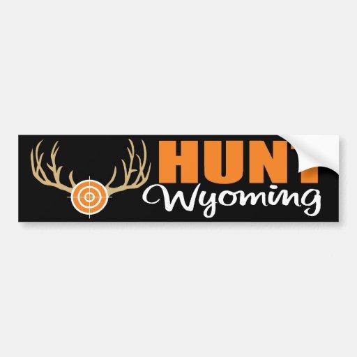Hunt Wyoming Bumper Stickers