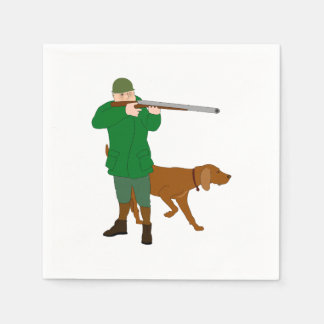 Hunter And A Dog Paper Napkins