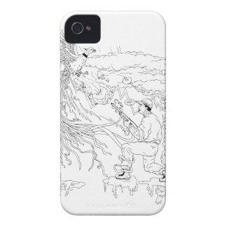 Hunter and Pheasant Ukiyo-e iPhone 4 Case