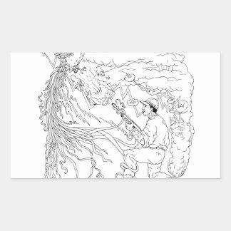 Hunter and Pheasant Ukiyo-e Sticker