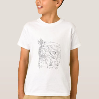 Hunter and Pheasant Ukiyo-e T-Shirt