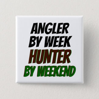 Hunter Angler 2 Inch Square Button