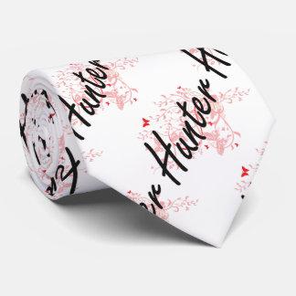 Hunter Artistic Job Design with Butterflies Tie