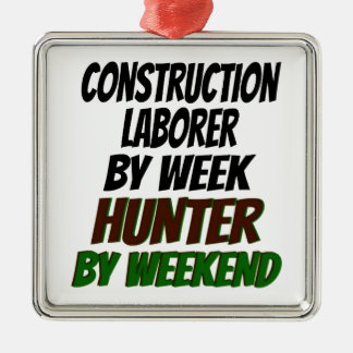 Hunter Construction Laborer Metal Ornament