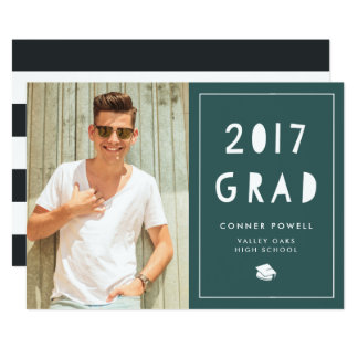 Hunter Cutout | Photo Graduation Party Invitation