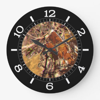 Hunter Fall Nature Camouflage Painting Dial on a Large Clock