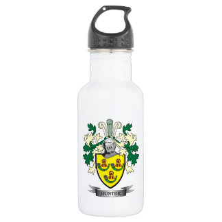 Hunter Family Crest Coat of Arms 532 Ml Water Bottle