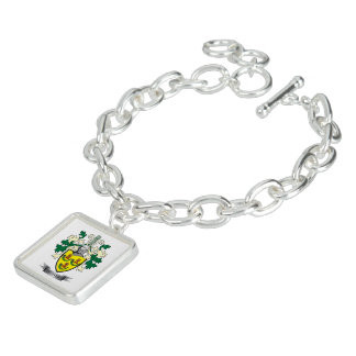 Hunter Family Crest Coat of Arms Bracelet