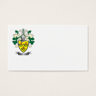 Hunter Family Crest Coat of Arms Business Card