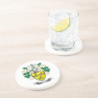 Hunter Family Crest Coat of Arms Coaster