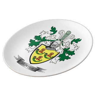 Hunter Family Crest Coat of Arms Plate