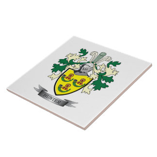 Hunter Family Crest Coat of Arms Tile