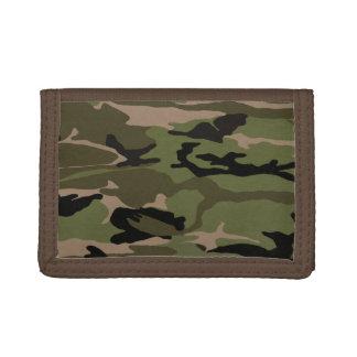 Hunter Green Camo Tri-fold Wallets