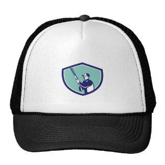 Hunter Holding Shotgun Rifle Crest Retro Trucker Hat