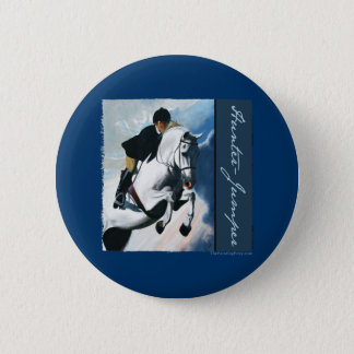 Hunter Jumper Acrylic Painting 2 Inch Round Button