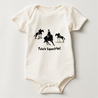 Hunter Jumper Equestrian Horse Baby Bodysuit