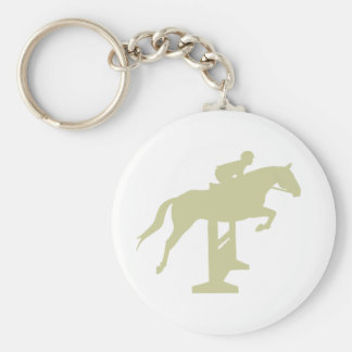 Hunter Jumper Horse & Rider (sage green) Gifts Basic Round Button Keychain